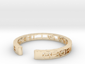 Aboriginal All The Time Bracelet in 14K Yellow Gold
