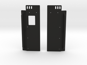 XJ Rear Quarter Armor in Black Natural Versatile Plastic