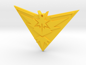 Pokemon Go - Team Instinct - Pendant  in Yellow Strong & Flexible Polished