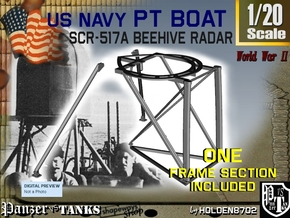 1-20 PT Boat Beehive Radar Frame in Smooth Fine Detail Plastic