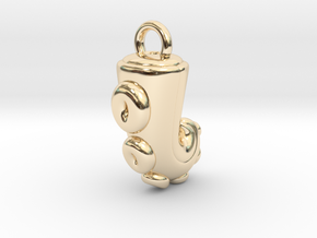 CHIBI CHUBBY TENTACLE in 14k Gold Plated Brass