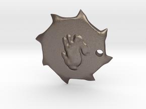 PendantPrint in Polished Bronzed Silver Steel