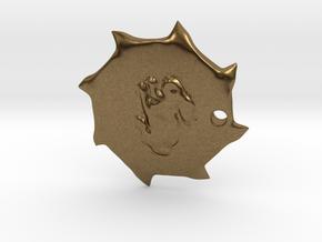 PendantPrint in Natural Bronze