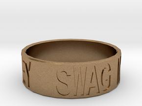 """Swag Money"" Ring, 24mm diameter in Natural Brass"