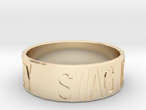 """Swag Money"" Ring, 24mm diameter in 14K Yellow Gold"