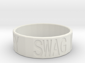 """Swag Money"" Ring, 24mm diameter in White Strong & Flexible"