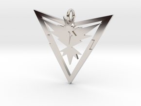 Pokémon Go Team Instinct Pendant in Rhodium Plated Brass