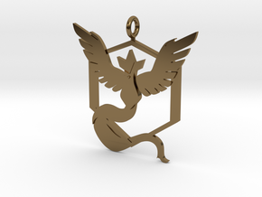 Pokémon Go Team Mystic Pendant in Polished Bronze