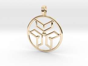 INFINITE ENERGY in 14k Gold Plated Brass