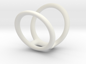Ring splint sizes 7/5 10  in White Natural Versatile Plastic