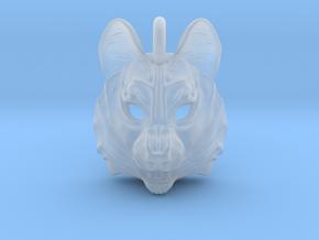 Plastic Husky Pendant in Smooth Fine Detail Plastic