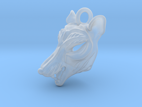 Plastic Thylacine Pendant in Smooth Fine Detail Plastic
