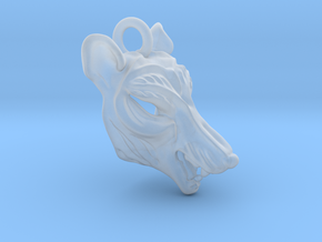 Plastic Thylacine Small Pendant in Smooth Fine Detail Plastic