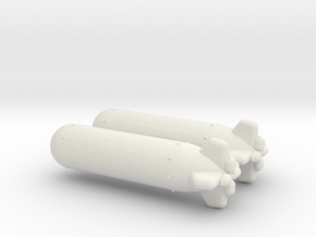 1/144 Scale Torpedo Mk 32 in White Strong & Flexible