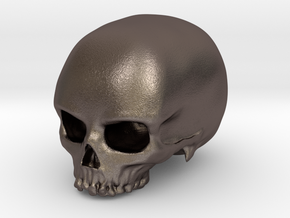 Skull in Polished Bronzed Silver Steel