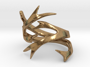 Antler Size 10 in Natural Brass