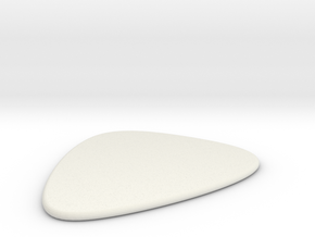 Guitar Pick in White Natural Versatile Plastic