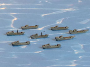 """IJN Coastal Freighters """"Sea Truck"""" 1/1250 in Smooth Fine Detail Plastic"""