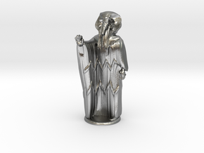 Ra in Robes with hand device - 20 mm in Natural Silver