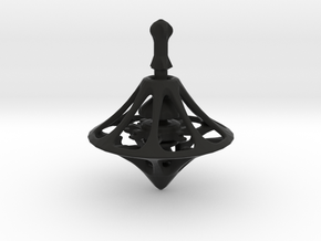 MEDIEV Spinning Top in Black Natural Versatile Plastic