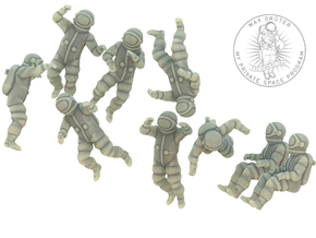Generic Astronauts / Free Floating  in White Strong & Flexible: 1:87