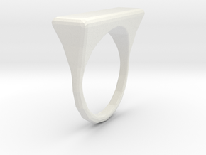Oriental RIng in White Natural Versatile Plastic