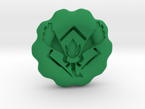 Team Harmony Badge/Coin in Green Processed Versatile Plastic