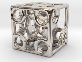 ZWEIDIE in Rhodium Plated Brass
