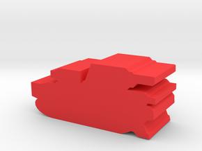 Game Piece, Imperium Medium Tank in Red Processed Versatile Plastic