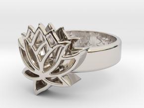 US9 Ring XXV: Tritium (Silver) in Rhodium Plated Brass