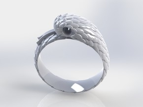 US6.5 Snake Ring: Tritium in White Processed Versatile Plastic