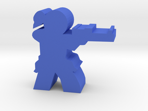 Game Piece, Militia Sniper Marina in Blue Processed Versatile Plastic