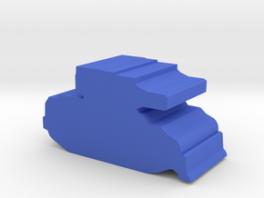 Game Piece, Militia Light Tank in Blue Processed Versatile Plastic