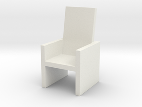 Card Holding Chair (7cm x 7cm x 12cm) (Hollow) in White Natural Versatile Plastic