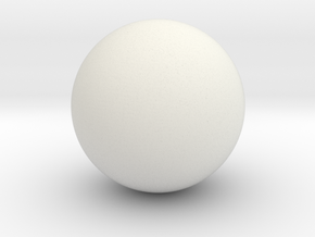 Hollow Sphere (6.5cm diameter) in White Natural Versatile Plastic