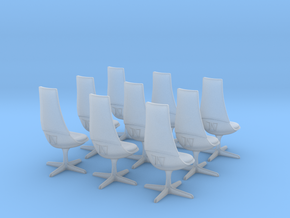 TOS Chair 1:32 - 8+1 for Bridge Model in Smooth Fine Detail Plastic