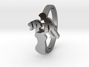 Mother-Son Ring - Motherhood Collection in Polished Silver: 6 / 51.5