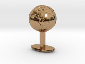 Earth Cufflink in Polished Brass