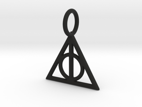 HARRY POTTER Deathly Hallows Pendant (1.5cm) in Black Natural Versatile Plastic