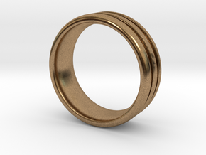US10 O-Ring Ring: Glow (Plastic/Silver) in Natural Brass