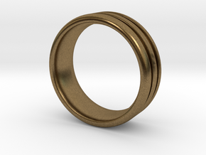 US10 O-Ring Ring: Glow (Plastic/Silver) in Natural Bronze