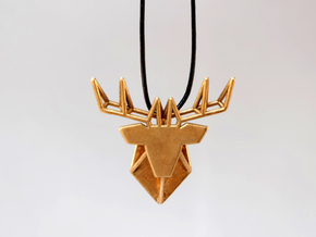 DEER Pendant in Natural Bronze