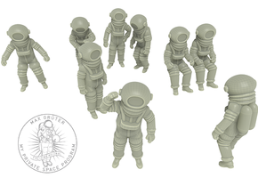 Destination Moon / Classic Astronauts Set /1:72 in White Strong & Flexible