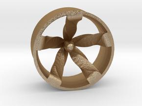 Mc'wheel in Matte Gold Steel