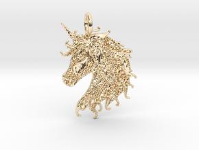 Ledgend Pendant in 14K Yellow Gold