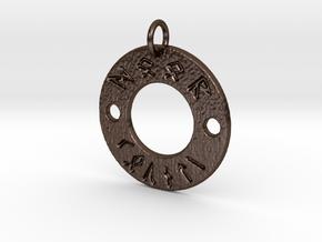 Rune Door County Pendant in Polished Bronze Steel
