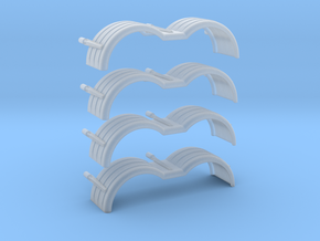 Truck1352 1/64 fenders in Smooth Fine Detail Plastic