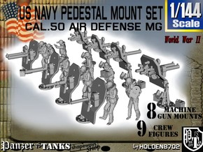1/144 US Navy  AA M Gun Pedestal Mount in Smooth Fine Detail Plastic