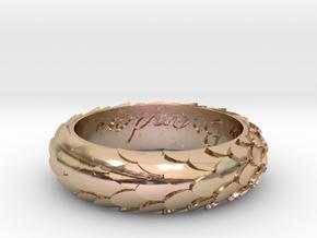 Model-18deb973b7a475cc09312b0990bebc1d in 14k Rose Gold Plated Brass
