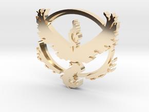 Team Valor Pendant in 14k Gold Plated Brass